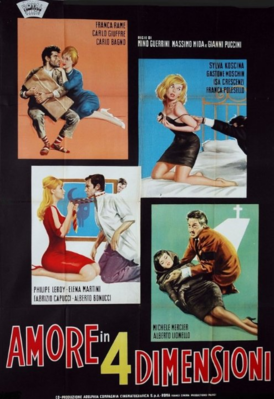 L'Amour en quatre dimensions - Poster - Italie