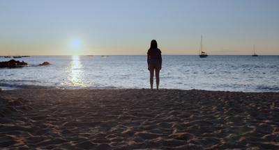 Mélanie à la plage