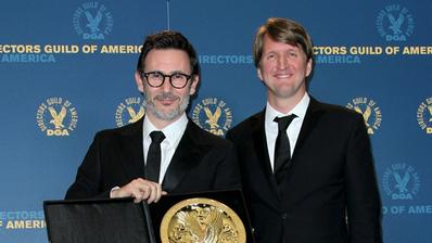 Hazanavicius y Dujardin, director y actor del año en USA. - Directors Guild of America Award