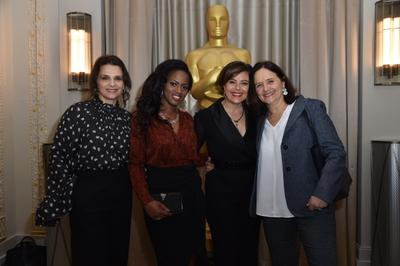 UniFrance and AMPAS join forces for two days in Paris dedicated to French cinema - Juliette Binoche, Maïmouna Doucouré, Mounia Meddour et la chef décoratrice Anne Seibel - © Giancarlo Gorassini - Bestimage / UniFrance