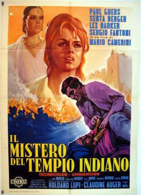 Le Mystère du temple hindou - Poster - Italie
