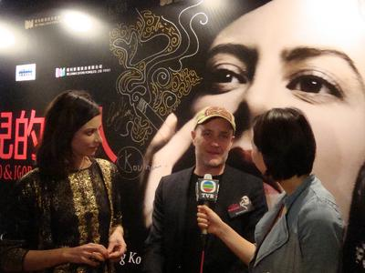 Film festivals in the Far East welcome French films - jan Kounen et Anna Mouglalis à Hong Kong - © Unifrance.org