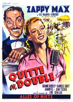 Quitte ou double - Poster - Belgique