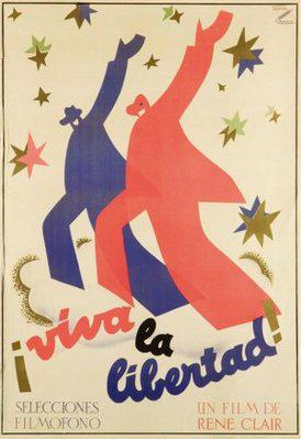 自由を我等に - Poster Espagne