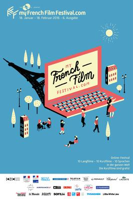 The 6th MyFrenchFilmFestival.com is coming soon! - Poster MyFFF 2016 - german