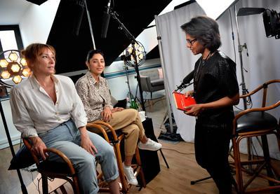 2018 Cannes Film Festival Portfolio - Golshifteh Farahani et Emmanuelle Bercot interviewées par Audrey Pulvar - © Veeren/BestImage/UniFrance