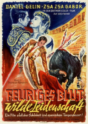 Beauty and the Bullfighter / Love in a Hot Climate - Poster - Allemagne