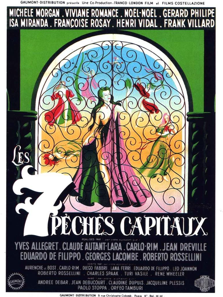 Les 7 péchés capitaux - Poster France