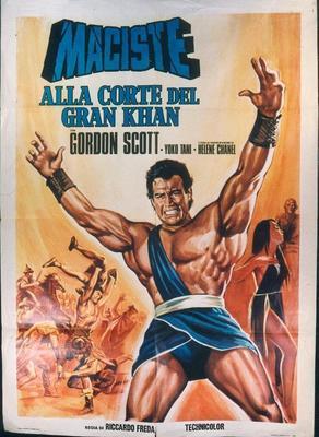 Maciste: En la corte del Gran Khan - Poster - Italy