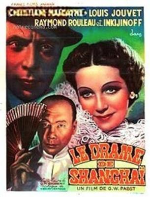Le Drame de Shanghai - Poster Belgique