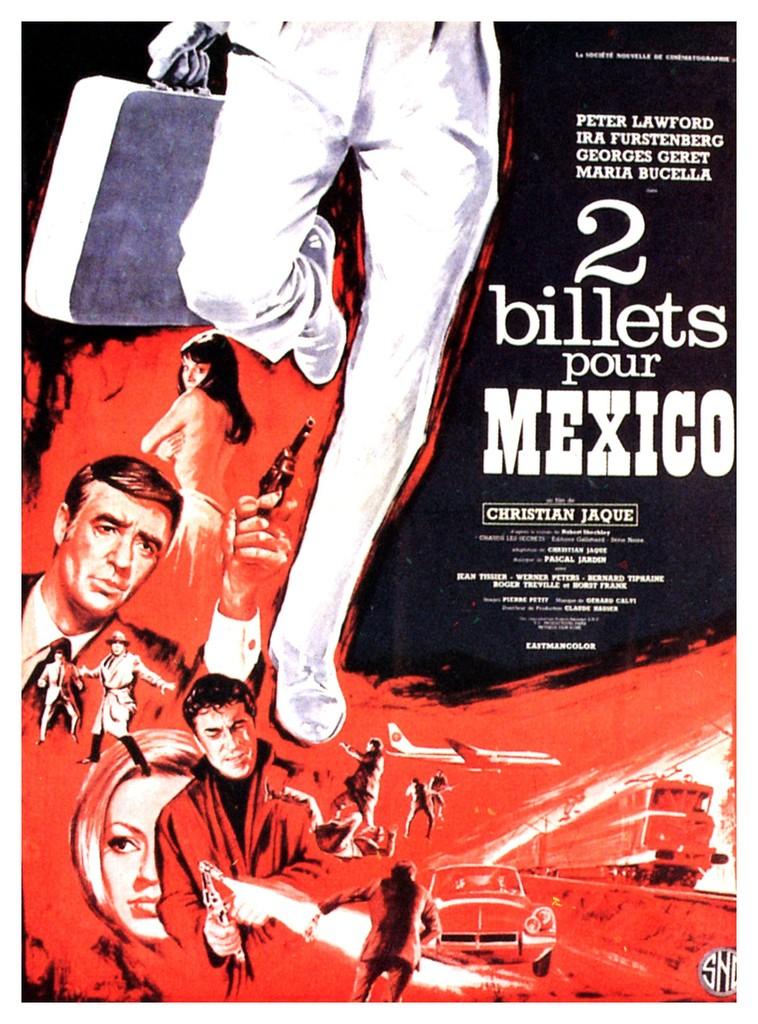 Deux billets pour Mexico - Poster France