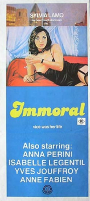 The Immoral One - Poster Italie