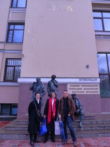 Masterclasses au VGIK de Moscou - Devant le VGIK avec Joël Chapron d'UniFrance