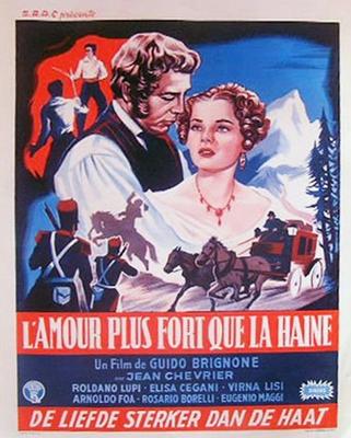 Le Voiturier du Mont Cenis - Poster Belgique
