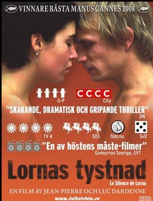 Le Silence de Lorna - Poster - Sweden