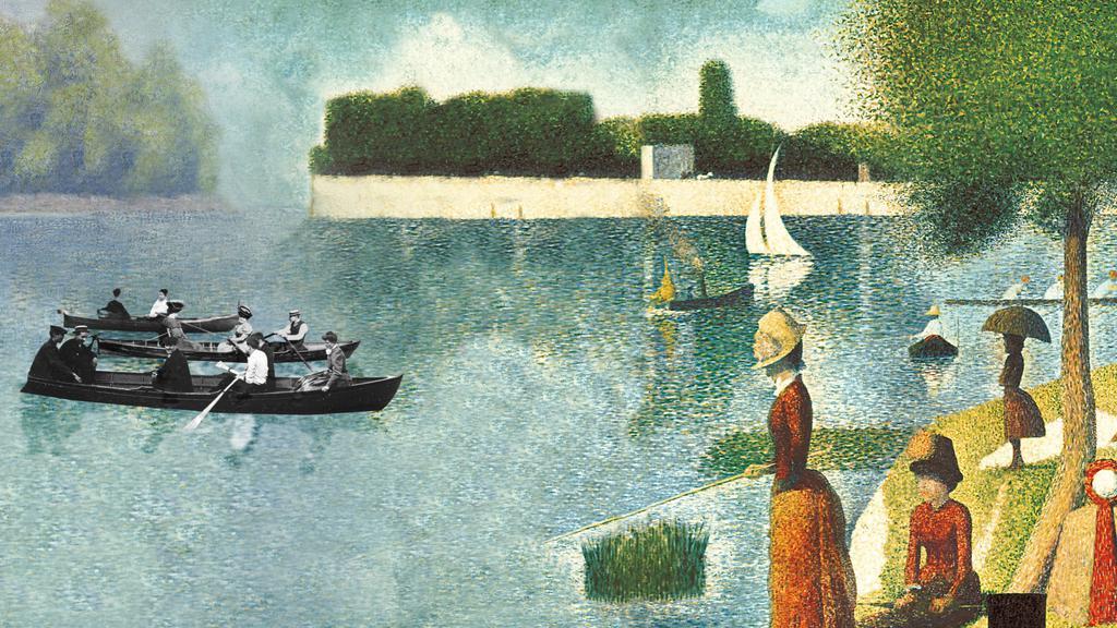Une baignade à Asnières, 1884, Georges Seurat