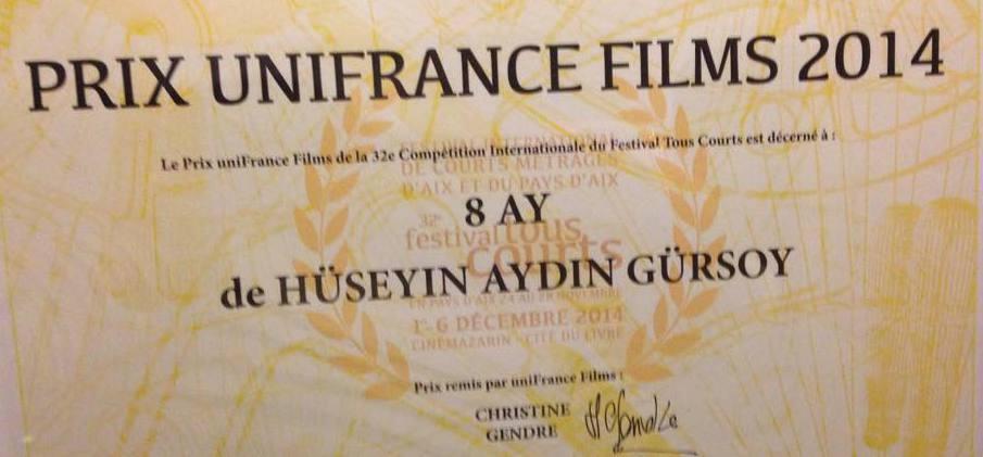 UniFrance Films hace entrega de un premio en Aix-en-Provence