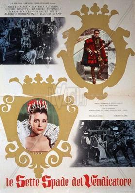 Las siete espadas del vengador - Poster - Italy