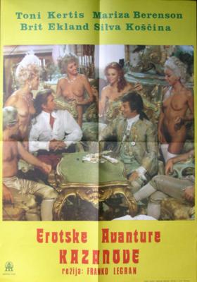 Treize femmes pour Casanova - Poster Yougoslavie