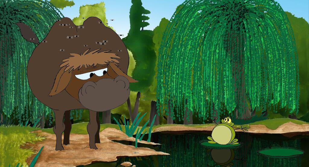 La fontaine fait son documentaire la grenouille qui veut - Image la grenouille et le boeuf ...