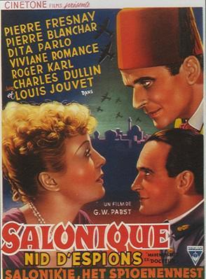 Mademoiselle Docteur (Salonique nid d'espions) - Poster Belgique