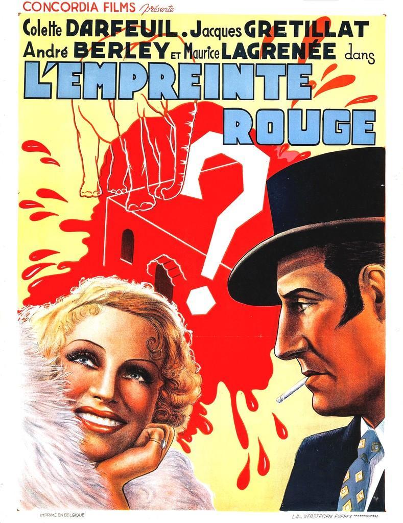 L'Empreinte rouge - Poster - Belgium