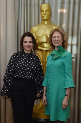 UniFrance and AMPAS join forces for two days in Paris dedicated to French cinema - Juliette Binoche et Dawn Hudson - © Giancarlo Gorassini - Bestimage / UniFrance