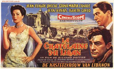 La Châtelaine du Liban - Poster Belgique