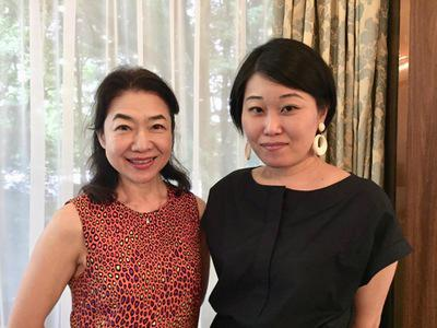 Yukiko Nakamura & Yuki Noguchi, exhibidoras