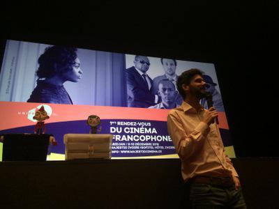 Balance de los Primeros Encuentros del Cine de habla francesa en Abiyán - Elie Chapuis présente Courgette à 250 enfants