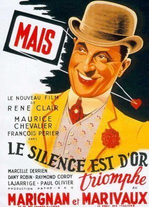 Le Silence est d'or - Poster France