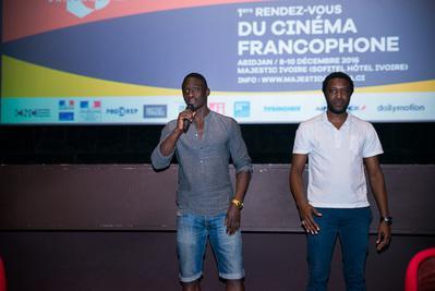 Balance de los Primeros Encuentros del Cine de habla francesa en Abiyán - Daouda Coulibaly et Ibrahim Koma, réalisateur et acteur de Wùlu - © GK Studios