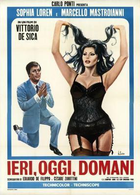 Hier, aujourd'hui et demain - Poster - Italie