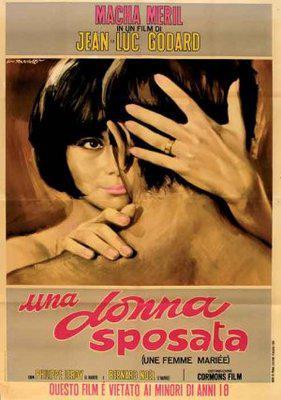 Une femme mariée - Poster Italie