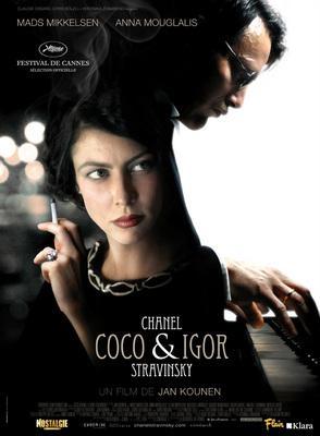 Coco Chanel & Igor Stravinsky - Poster - Belgium - © Cinéart