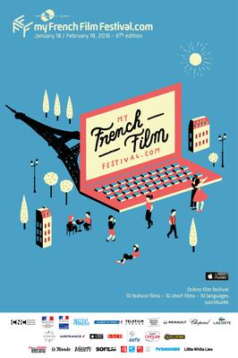 MyFrenchFilmFestival.com - Poster MyFFF 2016 - english