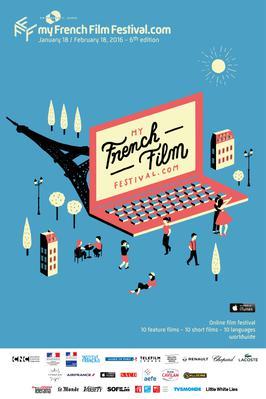 MyFrenchFilmFestival.com - Poster MyFFF 2016 - english