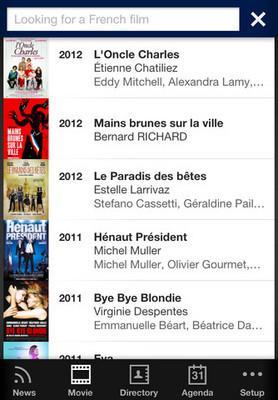 """uniFrance films présente l'application """"Le Cinéma français"""""""