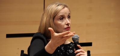Julie Delpy en el Lincoln Center, Nueva York, marzo de 2016 - Masterclass