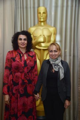 UniFrance et l'Académie des Oscars associés pour deux journées à Paris en l'honneur du cinéma français - Lorenza Muñoz (AMPAS) et Rosalie Varda - © Giancarlo Gorassini - Bestimage / UniFrance