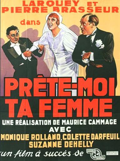 Prête-moi ta femme - Poster Belgique