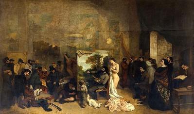 The Artist's Studio, 1855, Gustave Courbet