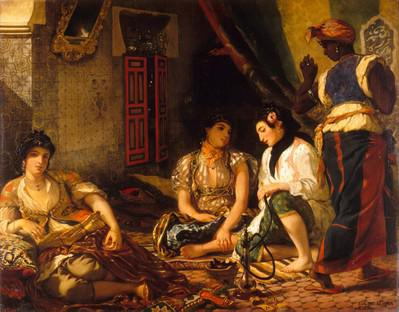Women of Algiers in Their Apartment, 1834, Eugène Delacroix