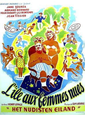 L'Ile aux femmes nues - Poster Belgique