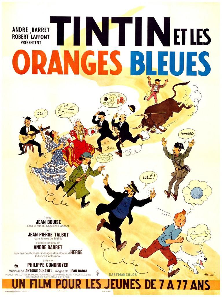 Tintín y el misterio de las naranjas azules