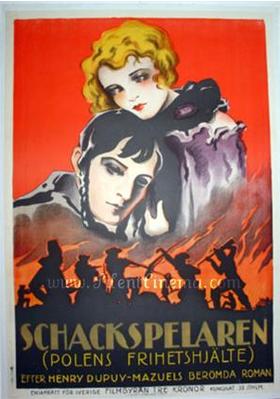 Le Joueur d'échecs - Poster Suède