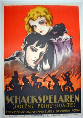 The Chess Player - Poster Suède