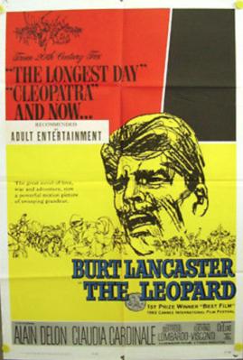 Le Guépard - Poster Etats-Unis