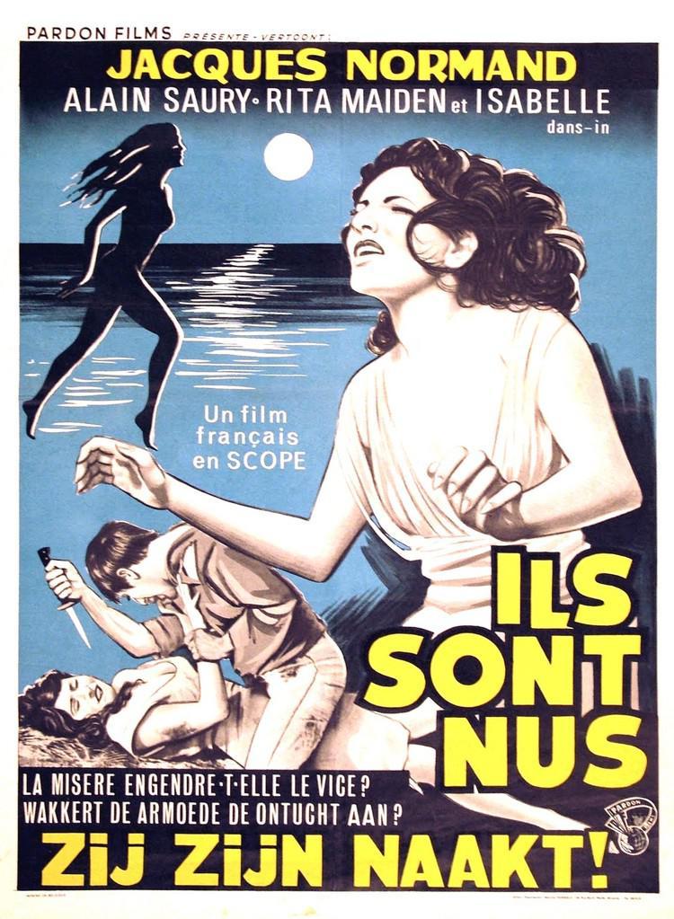 Ils sont nus - Affiche belge