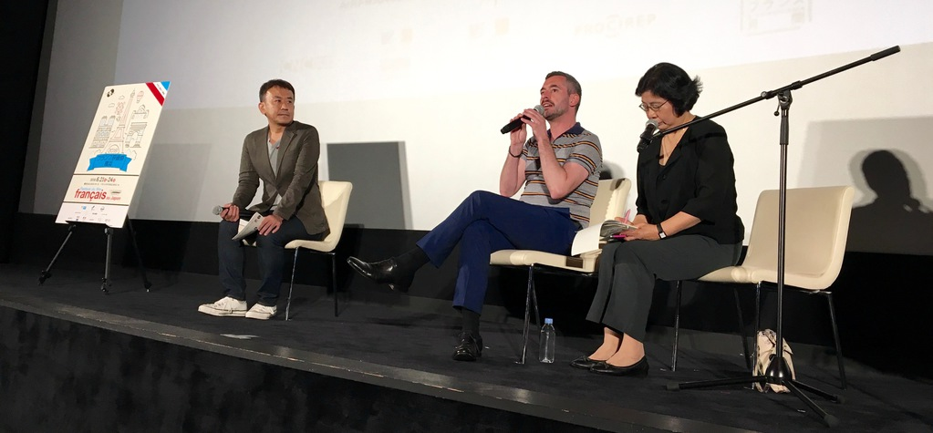 Xavier Legrand durante el debate con el público